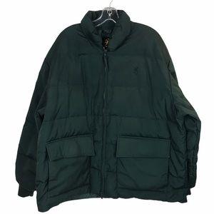 Browning 100% Goose Down Puffer Jacket XXL Green